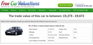 Instant Free Car Valuations